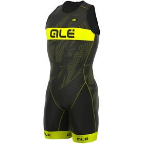 Alé Cycling Triathlon Olympic Record Herr Back Zipper gul/svart